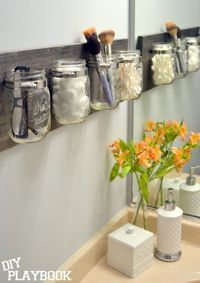 If you need some functional and creative storage options, check out this easy DIY mason jar organizer! This step-by-step tutorial walks you through how to creat