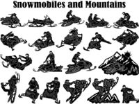Snowmobile Rider Jumping and Mountains Just for: $49.90