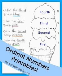 "Ordinal Numbers Printables Pack! Let's learn what ""First, Second, Third, Fourth..."" mean in counting!"