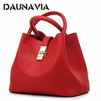 DAUNAVIA- 2019 Vintage Women's Handbags Famous Fashion Brand Candy Shoulder Bags Ladies Totes Simple Trapeze Women Messenger Bag $25.42