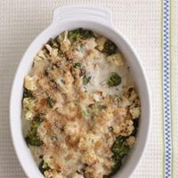 This creamy broccoli-and-cauliflower casserole is a hassle-free side dish that just about everyone loves.