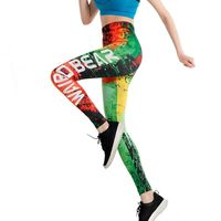 Vivid graffiti with letters looks personalized and striking. Fit for all kinds of body, showing your sexy body curve. High waist design makes your legs slender and thin. High elasticity material, soft and comfortable to wear. Great dress for yoga, run...