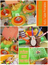 FREE Thanksgiving Kids' Table printables- Amanda's Parties To Go