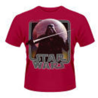 Plastic Head Star Wars Mens T-Shirt - Vader Lightsaber PH7849S Feel the force of the dark side in this fully licensed Star Wars mens t-shirt. This t-shirt features Darth Vader the sith Lord wielding a lightsaber against the backdrop of the Death Star. Fea...