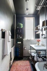 A monochromatic bathroom can be tough to pull off, especially if you're not working with a lot of square footage. If that's the case, make sure to introduce a f