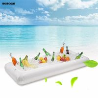 Inflatable Beer Table Pool Float Summer Water Party Air Mattress Ice Bucket Serving/Salad Bar Tray Food Drink Holder $17.99