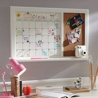 Dry-Erase Calendar Corkboard at PBteen. 2 in 1 and i love to feel organized