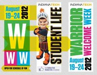 2012 Warrior Welcome Week materials by Jeffrey Melton, via Behance