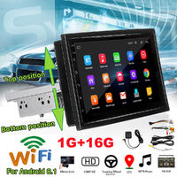 7 Inch 1 Din for Android 8.1 Car MP5 Player Radio Stereo 4 core GPS Touch Screen Wifi Adjustable Rotation