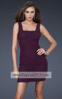 Ruched The Tank Two strap Cheap Short Prom Dresses