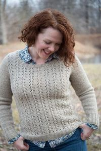 Amy Herzog's gorgeous Foyle's Pullover, in Clara Yarn Shetland 1.0 (Mooskit). I told her this yarn made you want to drive a World War II ambulance, and she so understood. xoxo