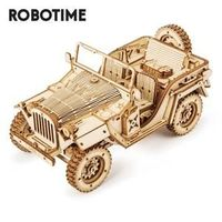 1:18 369pcs Retro DIY Movable 3D Army Jeep Wooden Puzzle for adults  Gender: Unisex Age Range: adult Material: Wood Puzzle Style: 3D PUZZLE Style: Military Warning: Small parts not for Children  Model Number: MC701 Package Size: 238*153*17mm Ins...