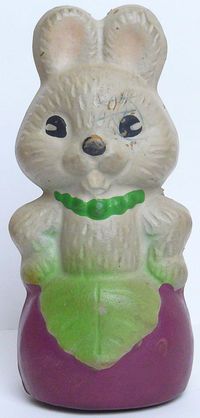 Vintage Original Soviet Bunny Russian Rubber Toy Doll USSR $3.00