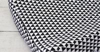 Changing Pad Cover - Black Triangles