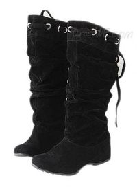 $119.99 Preppy Lace up Round Toe Mid Heel Casual Spring Fall Winter Luxury Flat Boots