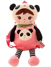Adorable Little Girl in Panda Outfit Plush BackPack / Purse