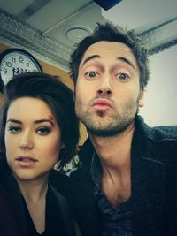 Megan Boone and Ryan Eggold from The Blacklist