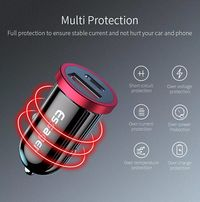 Essager 5A PD Fast Charging Type C + USB Dual Port Car Charger For iPhone X XS Max Xiaomi Mi8 Mi9 S10 S10+