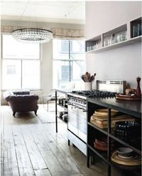 love a kitchen that doesn't look like a kitchen... (me too emily!)