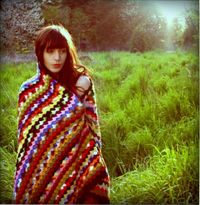 Psychedelic Summer Vintage Crochet Throw // from Captain Cat on Etsy