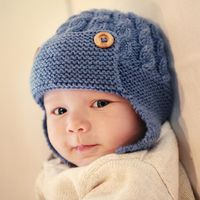 Cabled Baby Aviator Hat - Dayton pattern on Craftsy.com