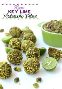 Raw Key Lime Pistachio Bites