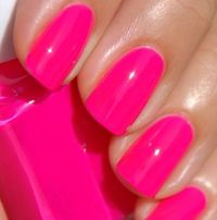Match your lips with a bright, fuchsia polish . You can never go wrong with this vibrant shade!