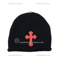 Patch Knit Red Cross Chrome Hearts Cap 2013