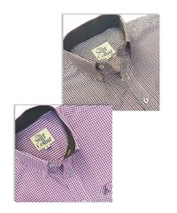 Red Black and Purple Gingham Button Down Sports Shirt Combo �'�2999.00