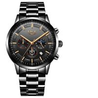 LIGE LORD STAINLESS STEEL QUARTZ WATCH $62.99