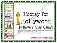 This fun, Hollywood themed behavior chart is based on the clip chart behavior management system by Rick Morris.
