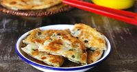 2012-11-13-Chinese Scallion Pancakes Sea Salt with Food