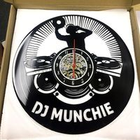 Personalized DJ Name Clock Gift for DJ Friend Vinyl Wall Clock https://www.gullei.com/personalized-great-dj-name-gift-vinyl-wall-clock.html