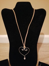 Wire Wrapped Heart Pendant Necklace Style #3, You Customize $10.00