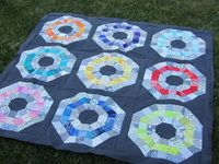 Octagonal Orb Top Finished by A Quilting Jewel