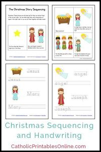 Christmas Mini Book and Handwriting Printables (Free Download)
