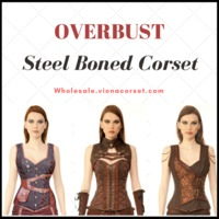 Authentic Overbust Steel Boned Corset in Bulk at Wholesale Price - Viona Corset