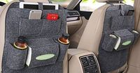 Multi-purpose use as an all-in-one Seat Back Organizer, Kick Mat and Seat Protector! Available in black, gray and cream. Keep clutter away and store all travel essentials in an easy-to-find, easy-to-reach place. 6pockets in total: 2 for holding drinks...