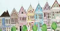 San Francisco Victorian Colorful Houses Painted Ladies Illustration Art Print. $25.00, via Etsy.