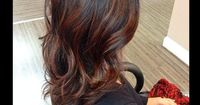 Auburn balayage -- I THINK THE HAIR COLOR IS TOO DARK BUT I LOVE THE PLACEMENT OF THE HIGHLIGHTS.