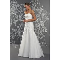 Lynette by Romantica of Devon - Organza Floor Strapless Fit and Flare Wedding Dresses - Bridesmaid Dress Online Shop