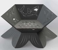Fire Pit Hexagon Tuna, Bass, Rainbow Trout, Red fish and Shark fish Just for: $44.90