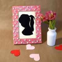 Sweet Silhouettes, Easy Valentine's Crafts for Children