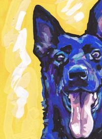 Black+German+Shepherd+modern+Dog+art+print+pop+by+BentNotBroken,+$22.99
