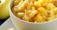Cornbread-Topped Apple Macaroni and Cheese Recipe courtesy of Melissa LaCaille, winner of the People's Choice award at the 2008 Tillamook Macaroni & Cheese Cook-Off.