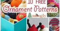 Free patterns. Make your own gorgeous ornaments for Christmas.
