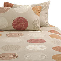 john lewis Isadora Duvet Cover, Barley, Super Kingsize Printed duvet covers in barley, with cream, soft red and terracotta patterned circles. Single duvet cover to fit 135cm x 200cm Double duvet cover to fit 200cm x 200cm Kingsize duvet cover to fit 225cm...