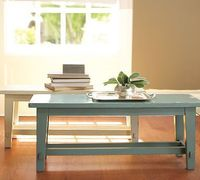 Blakely Rustic Bench #potterybarn Our entry way has a small wall (about thirty inches wide), then a long angle. This turquoise bench would look great on the long angle, and would be great for little ones to sit on while they get their shoes on or ...