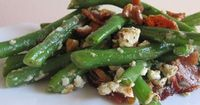 "Green Beans with Blue Cheese | ""YUM! All the flavors go together very well!"""