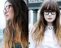 I love the ombre hairstyle.